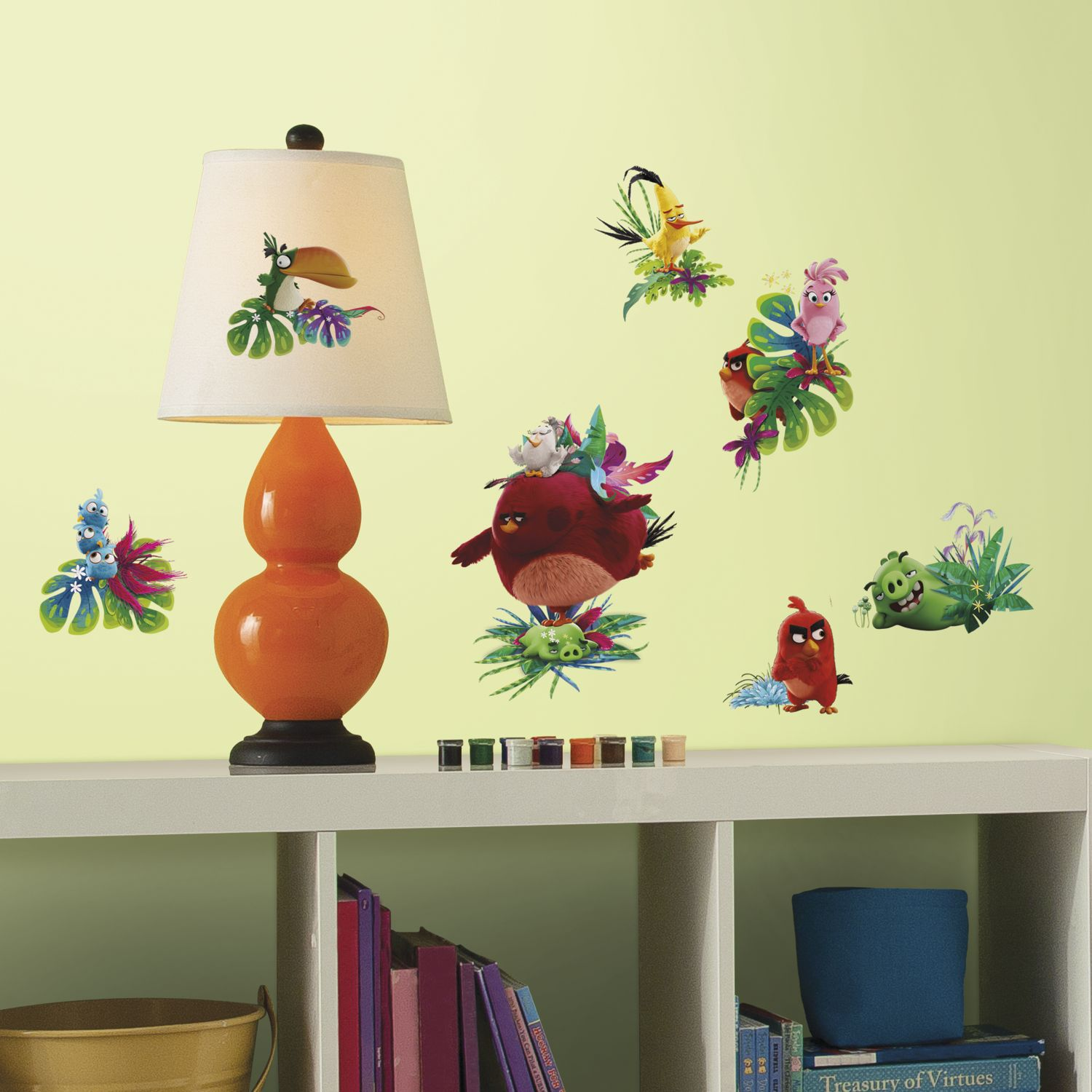 Angry birds 2 0 peel and stick wall stickers for Angry birds wall mural