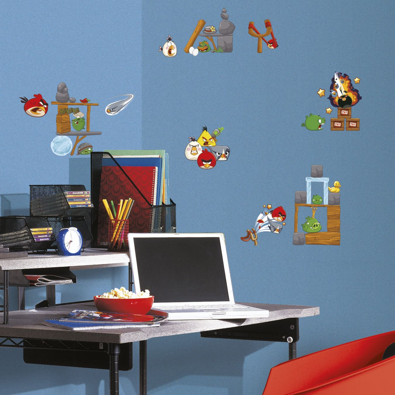 Angry birds 2 0 peel and stick wall stickers for Angry bird wall mural