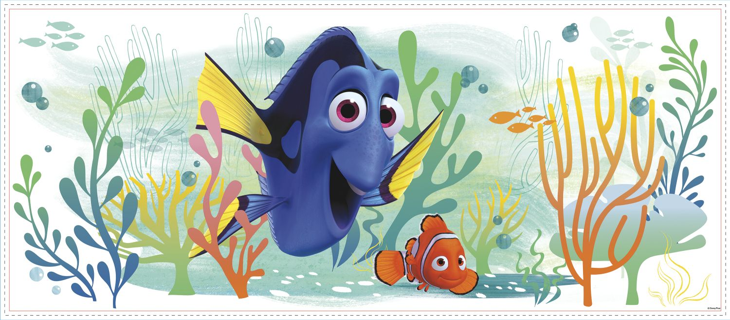 Finding dory and nemo giant graphic peel and stick wall decal for Finding dory wall decals