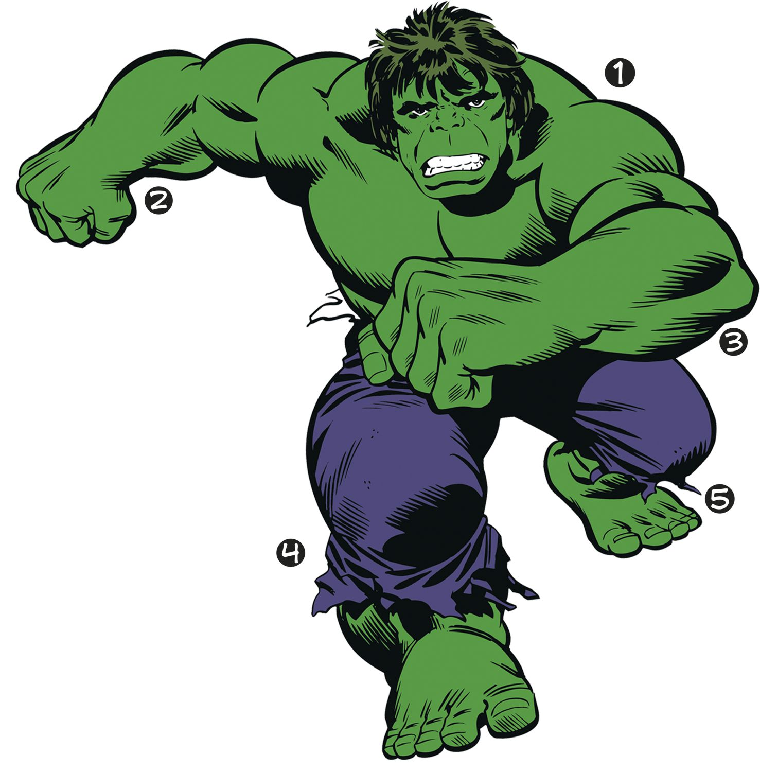 giant classic hulk wall decals