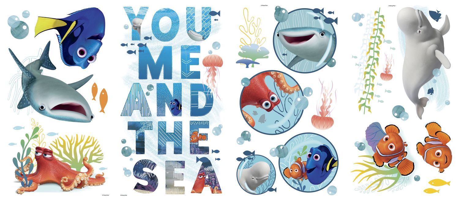 Finding dory you me and the sea wall decals for Finding dory wall decals