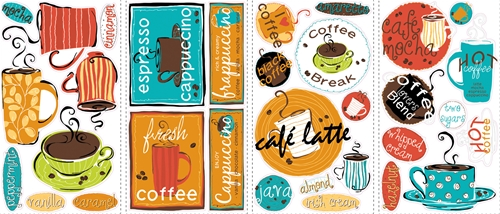 Cafe Peel and Stick Wall Decals