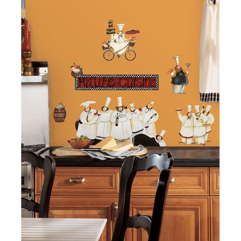 Chefs kitchen removable wall decals - Kitchen wall stickers decor ...