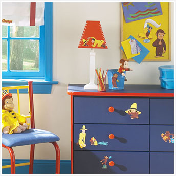 Curious george wall decals 1000 ideas about curious for Curious george bedroom ideas