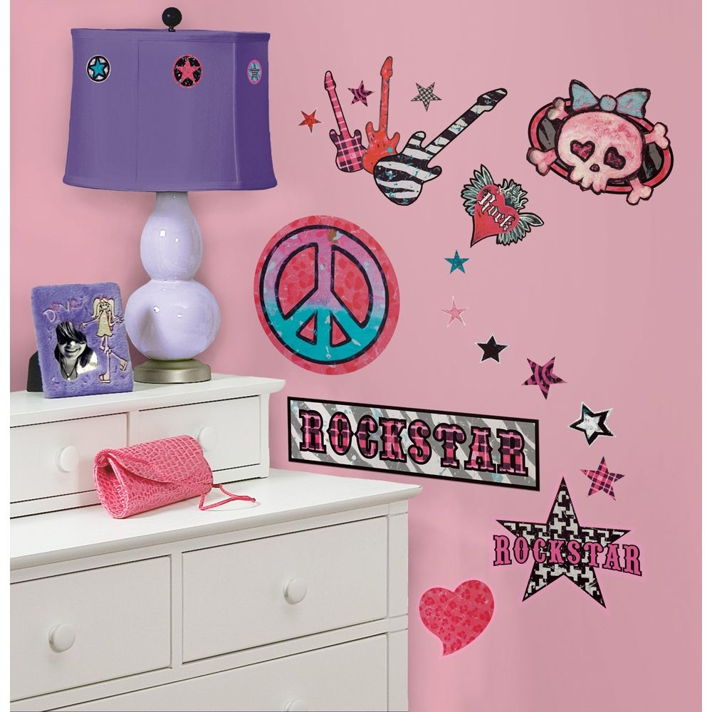 S Rock And Roll L Stick Wall Decals