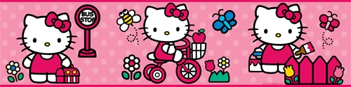 Hello Kitty World Wallpaper Border