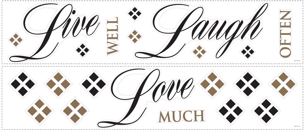 live well laugh often love much wall decals. Black Bedroom Furniture Sets. Home Design Ideas