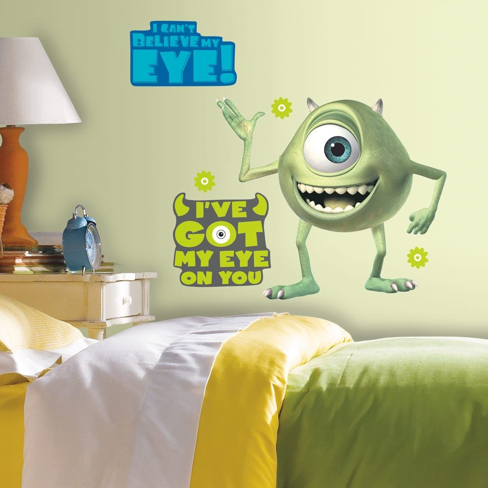 Giant Mike Wazowski Wall Decals from Monsters Inc