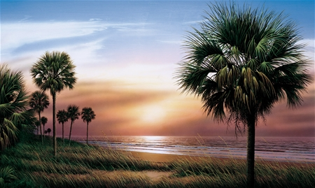 Palm Trees Prepasted Wall Mural