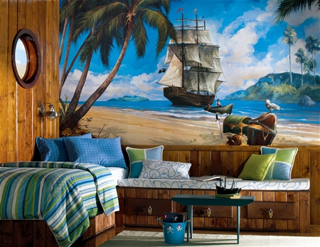 Pirate Ship XL Prepasted Wall Mural