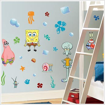 Spongebob Squarepants Peel And Stick Wall Stickers - Spongebob room decals
