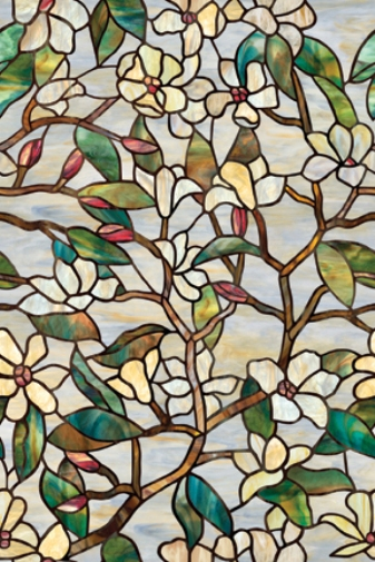 Summer magnolia stained glass decorative window film for Make your own stained glass window film