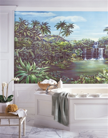 tropical lagoon xl prepasted wall mural new xl dinosaurs prepasted wallpaper mural boys bedroom