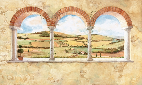 Tuscan View Prepasted Wall Mural